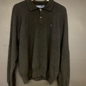 Vintage Black Polo Sweater